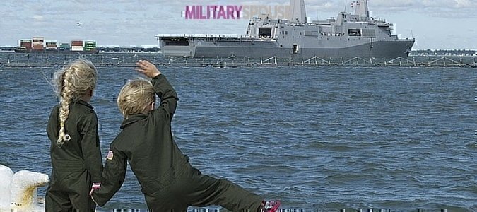 saying goodbye in the military