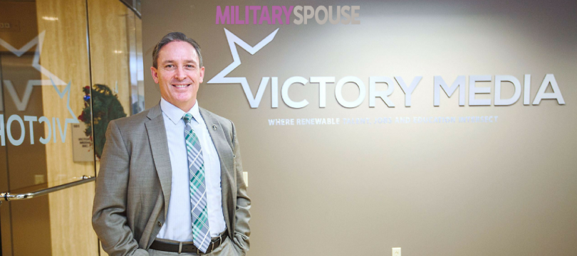Mike Stevens, the new chief operating officer at Victory Media in Moon, is a retired Navy master chief petty officer.